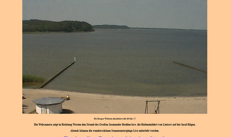 Webcam Lietzow Strand