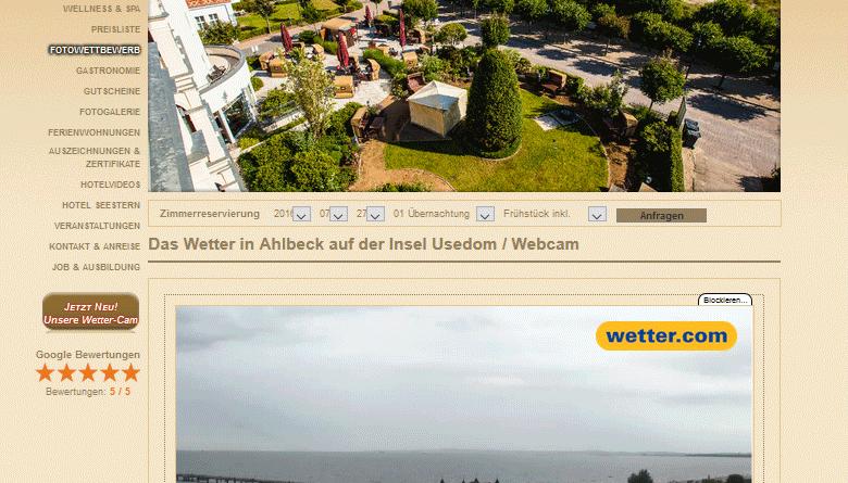Webcam Ahlbeck Seebrücke Promenade Ostsee Strand