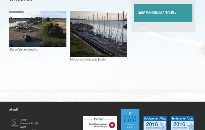 Webcam Baabe Greifswalder Bodden Selliner See