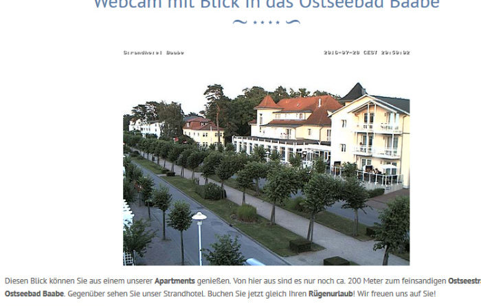 Webcam Baabe Strandstraße