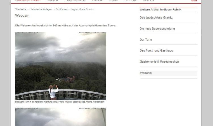 Webcams Binz Jagdschloss Granitz