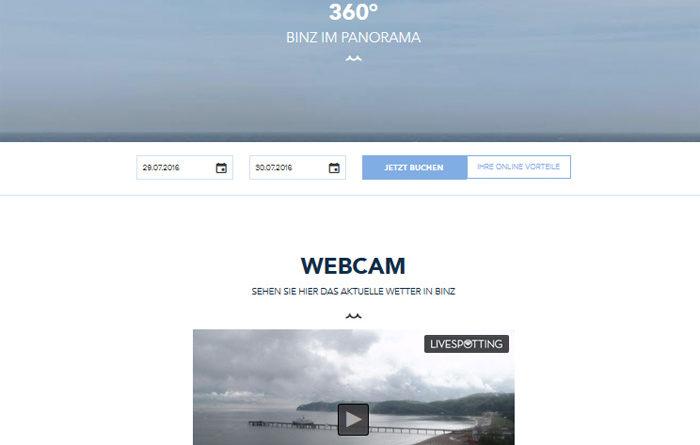 Webcam Binz Strand Ostsee Livecam