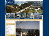 Blick auf den Strand von Binz
