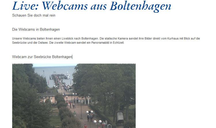 Webcam Boltenhagen Seebrücke