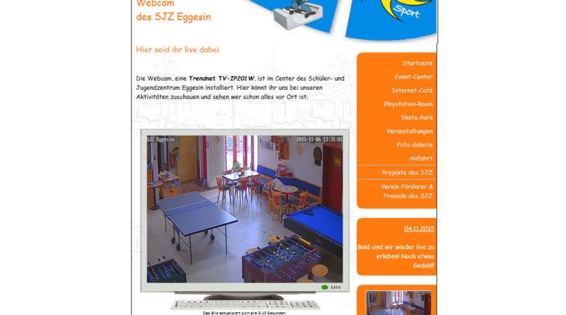 Webcam Eggesin mit Blick ins Jugendzentrum