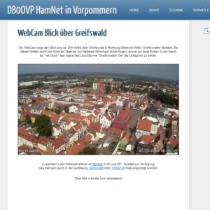 Webcam Greifswald Altstadt Richtung Bodden