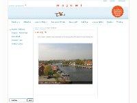 Webcam Greifswald Ausblick vom Haupthaus des Maritimen Jugenddorfes Wiek in Richtung Wiecker Brücke und Greifswald