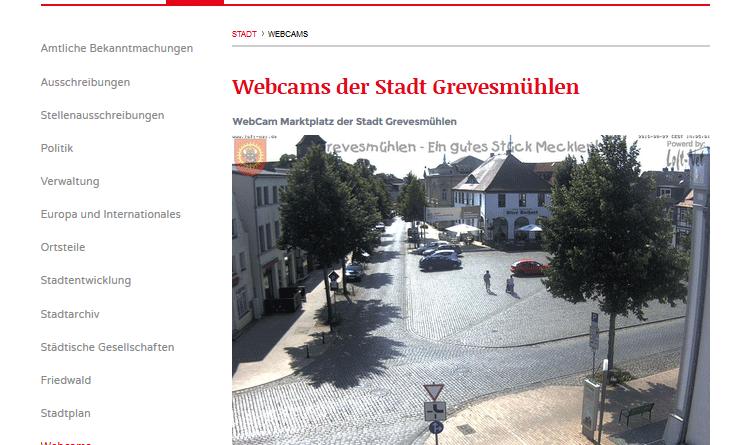Webcam Grevesmühlen Marktplatz