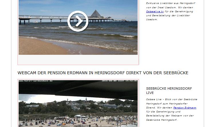 Webcam Heringsdorf Seebrücke
