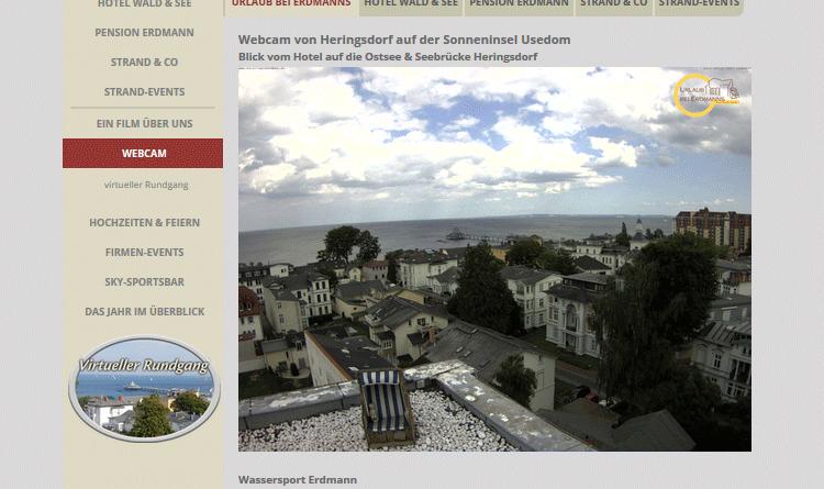 Webcam Heringsdorf Strand Seebrücke