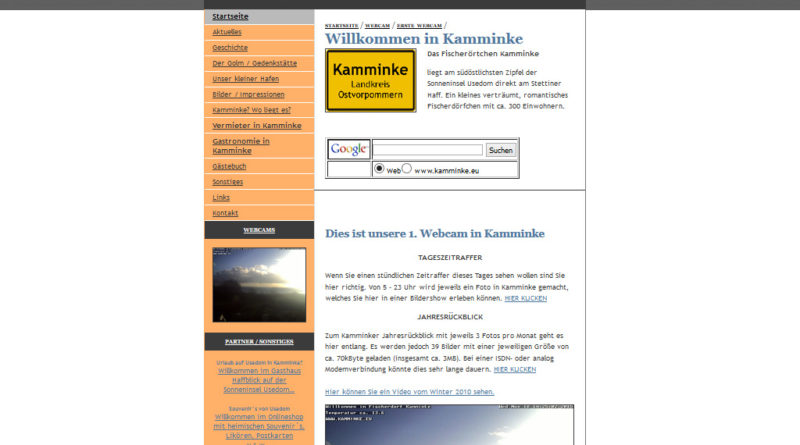 Webcam Kamminke – Stettiner Haff