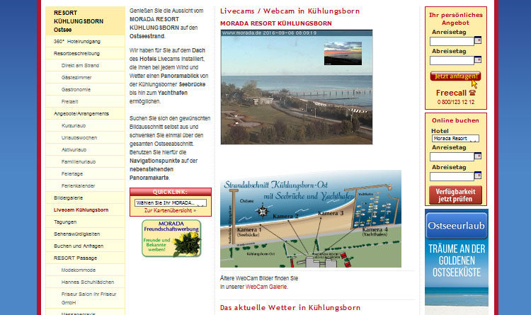Webcam Strand von Kühlungsborn