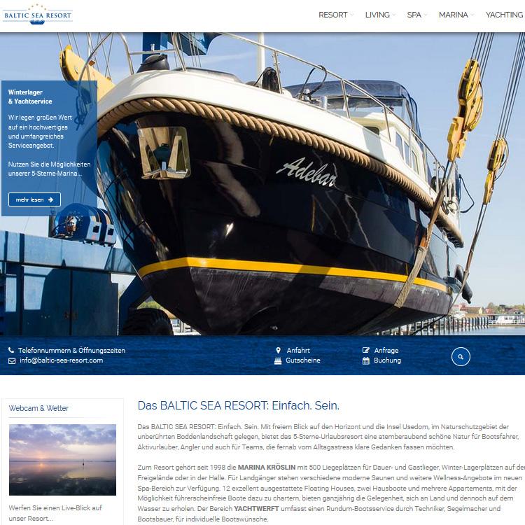 Webcam Kröslin mit Blick auf den Yachthafen - Marina Kröslin