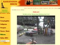 Webcam der Kanustation in Mirow