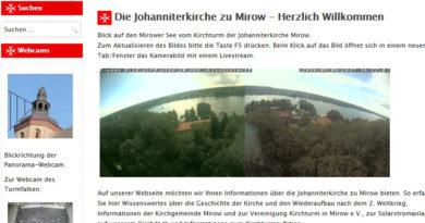 Webcam MIrow Kirche Johanniterkirche
