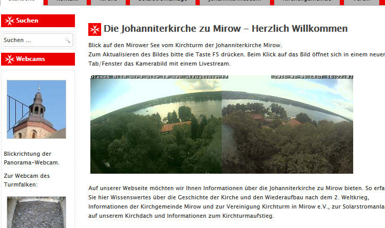Webcam MIrow Kirche Johanniterkirche