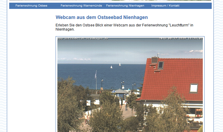 Webcam Nienhagen Ostsee