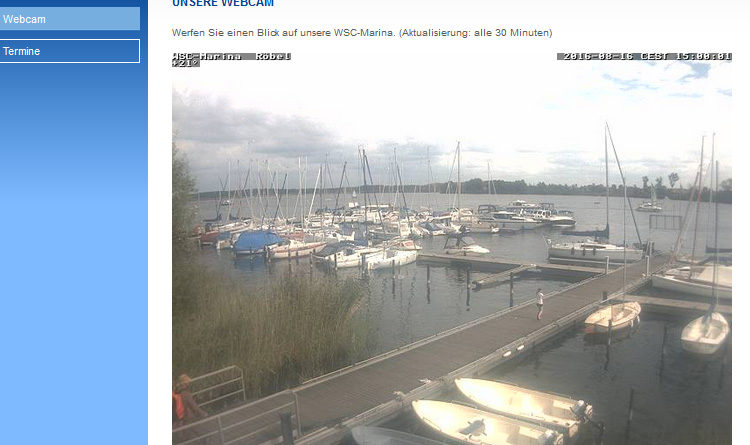 Webcam in der Marina des WSC Röbel