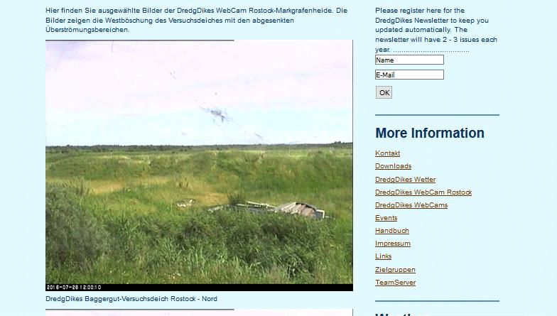 Webcam Rostock Markgrafenheide Versuchsdeich