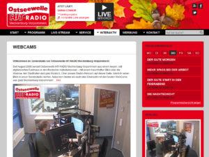 Webcam Rostock mit Blick in die Studios von Ostseewelle Hitradio Mecklenburg-Vorpommern