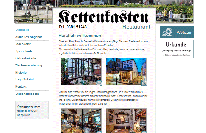 Webcam Rostock Warnemünde Alter Strom Kettenkasten