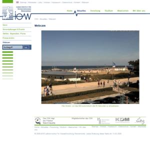Webcam Rostock Warnemünde Strandpromenade Hafeneinfahrt