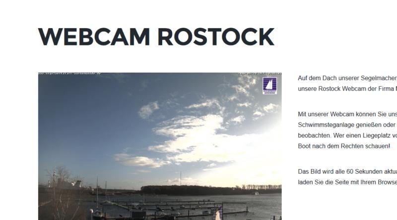 Webcam Rostock Schmarl mit Blick über Warnow und Schwimmsteg