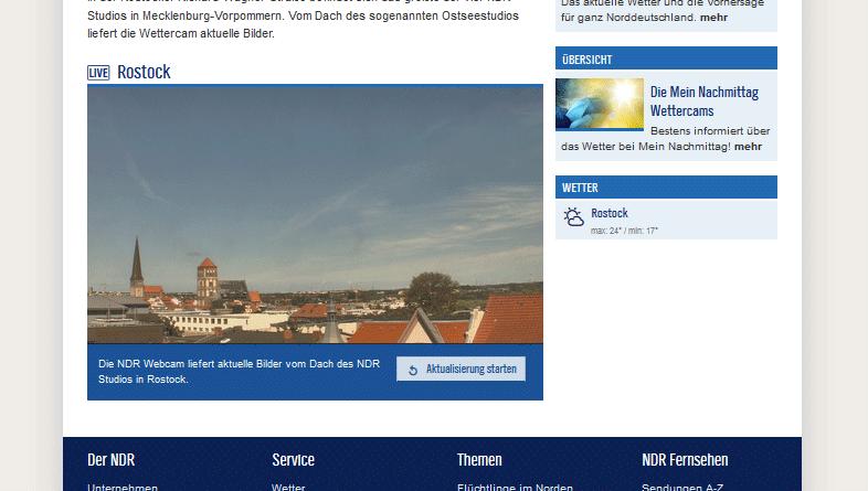 Webcam Rostock Wettercam NDR