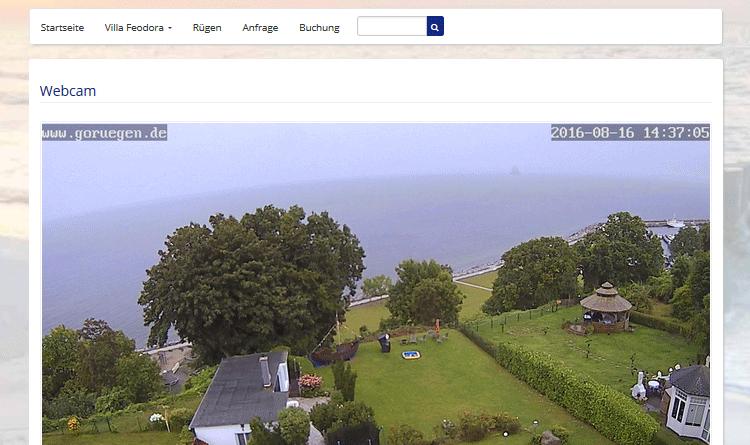 Webcam Sassnitz Garten Ostsee