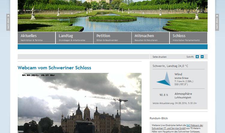 Webcam Schwerin Schloss Landtag
