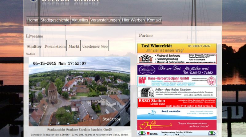 Webcam Usedom Stadt