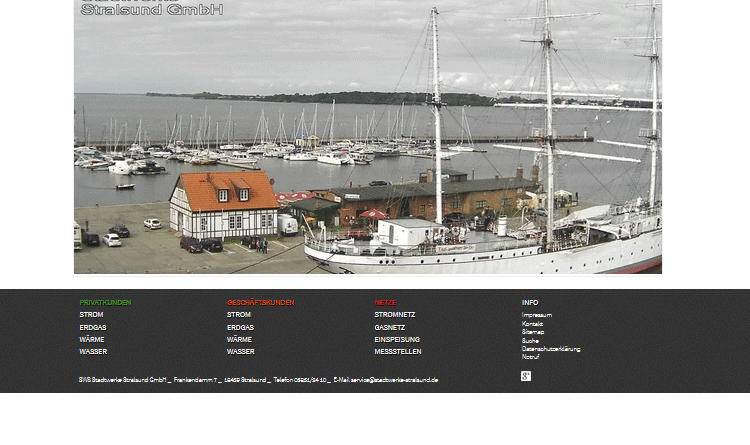 Webcam Stralsund Yachthafen