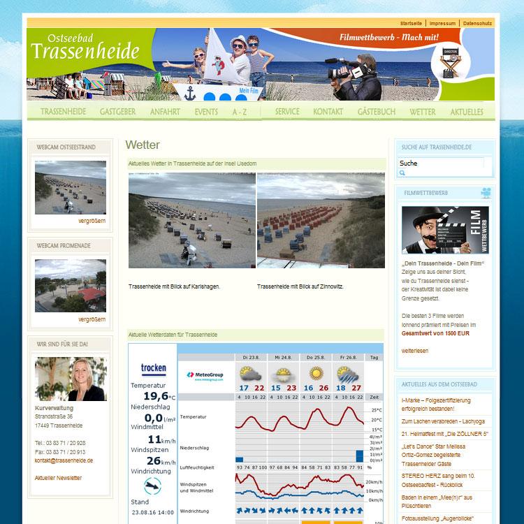 Webcam Trassenheide auf der Insel Usedom