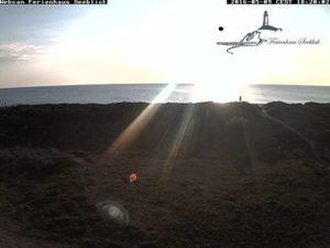 Webcam Blick aus dem Ferienhaus Seeblick in Vitte