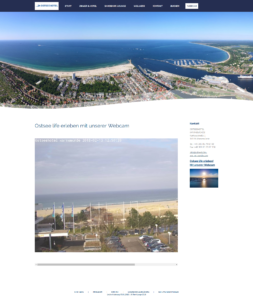 Webcam Warnemünde Strand und Ostsee