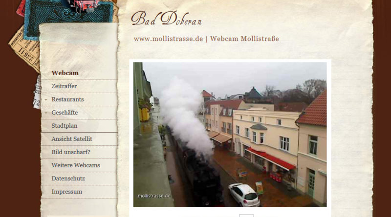 Webcam Bad Doberan der Molli auf der Mollistraße in Bad Doberan
