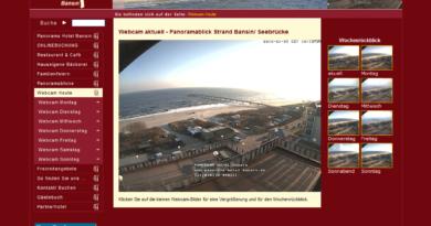 Webcam Bansin Panoramablick über Strandpromenade und Seebrücke