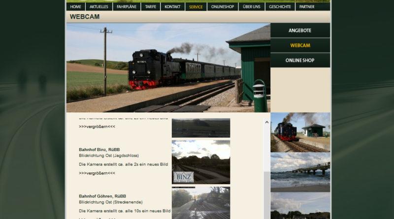 Webcam Göhren - Bahnhof Rasender Roland (Rügen)
