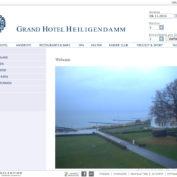 Webcam Heiligendamm mit Blick vom Grand Hotel Heiligendamm auf die Ostsee und einen Teil der Seebrücke