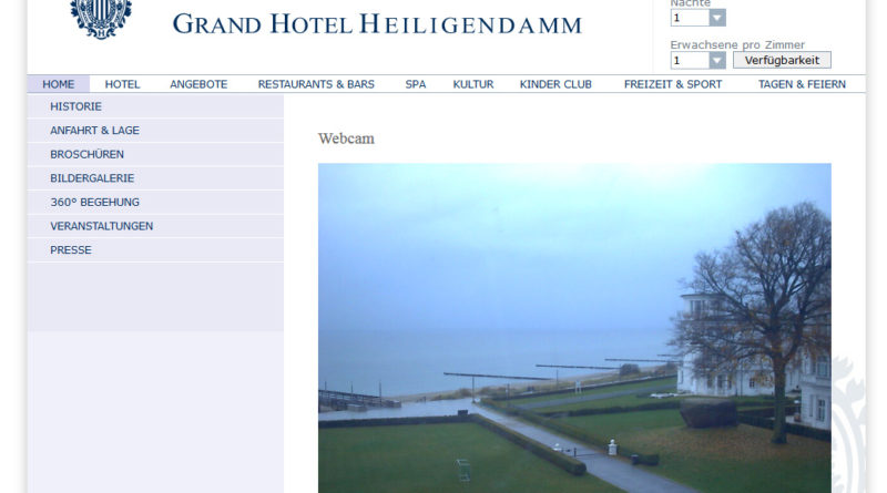 Webcam Heiligendamm Seebrücke