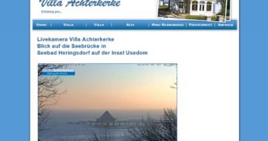 Webcam Heringsdorf Seebrücke - Blick aud den Brückenkopf