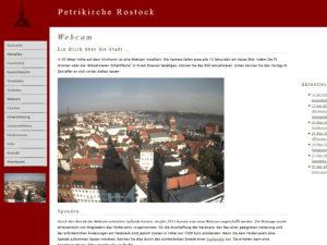 Webcam Rostock - Stadthafen, Warnow, Marienkirche und Speicher