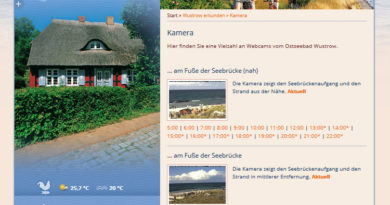 Webcam Wustrow Hafen Strand Seebrücke