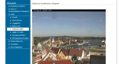 Webcam Wolgast Peenebrücke