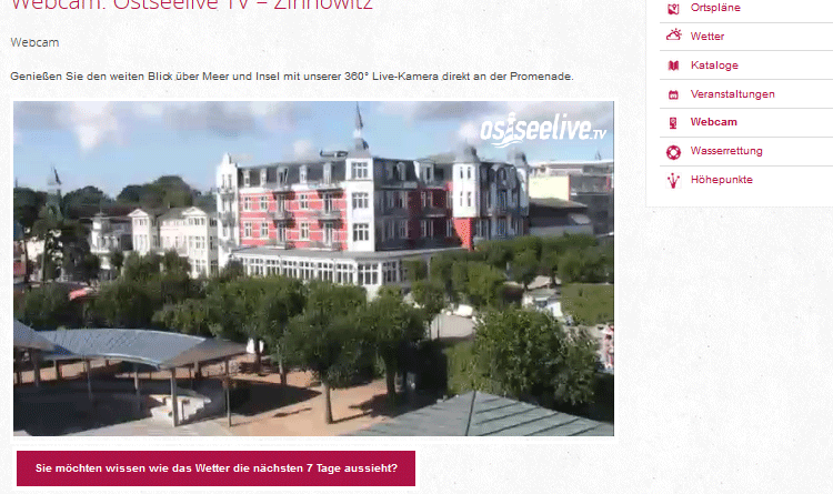 Webcam Zinnowitz
